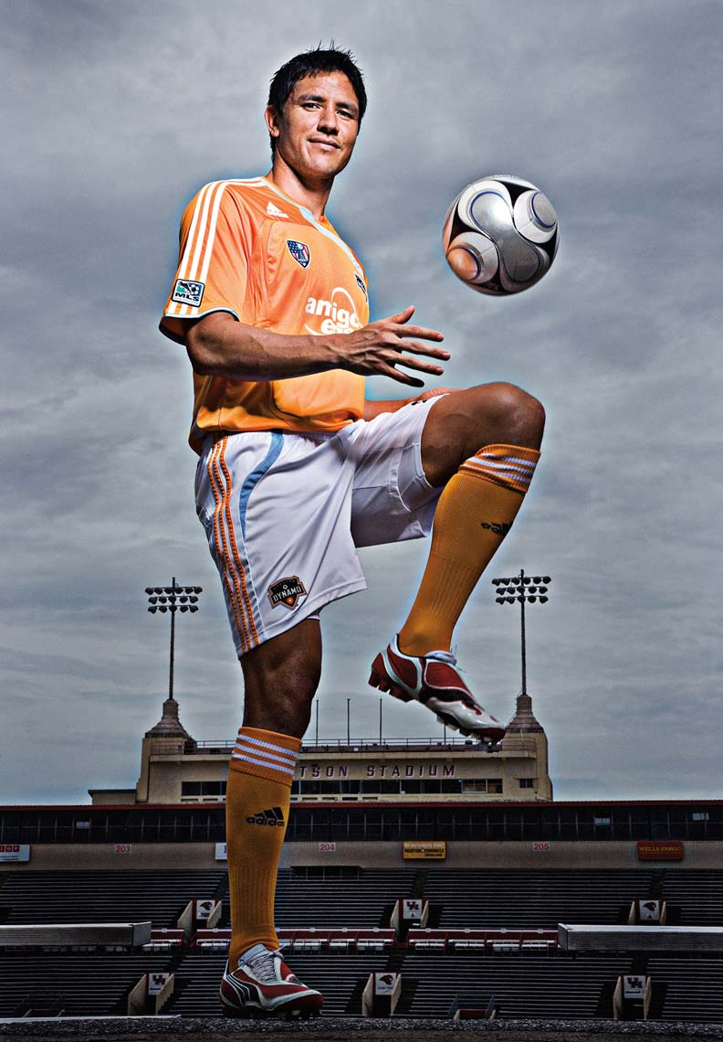 Houston Corporate Photographer - Soccer player Photoshoot